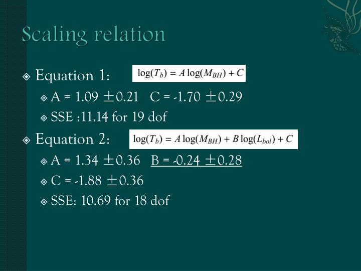 Scaling relation