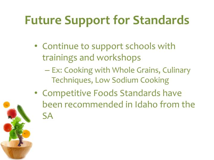 Future Support for Standards