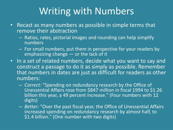 Writing with numbers1