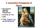 5 geometrical arrangement of figures