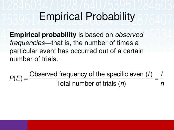 Empirical Probability