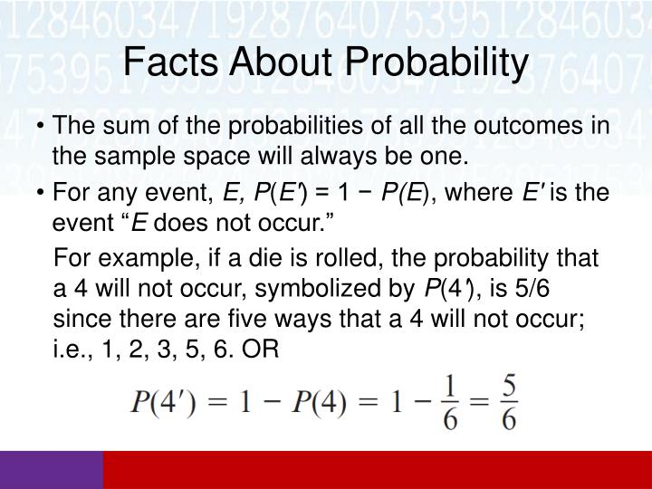 Facts About Probability