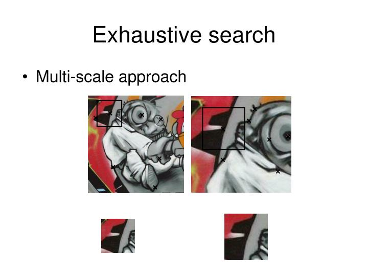 Exhaustive search
