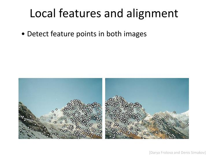 Local features and alignment