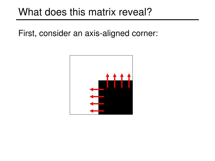 What does this matrix reveal?