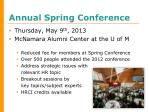 annual spring conference