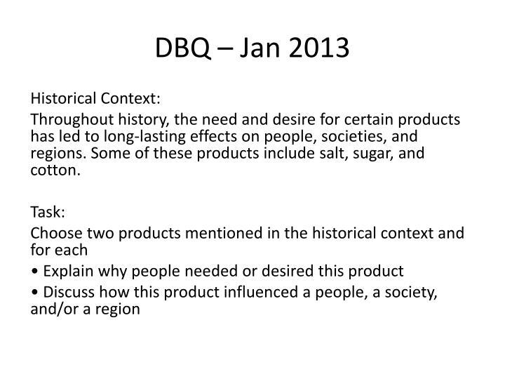 DBQ – Jan 2013