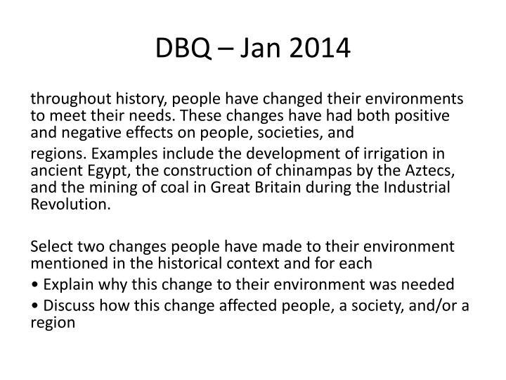 DBQ – Jan 2014