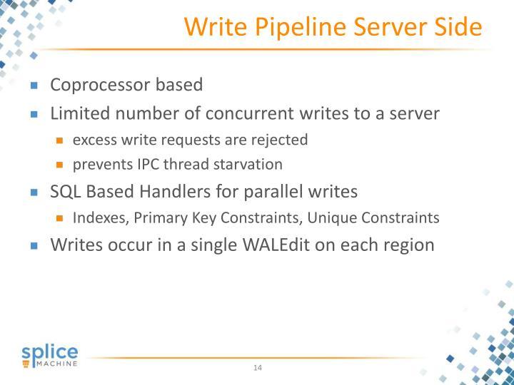 Write Pipeline Server Side