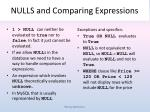 nulls and comparing expressions