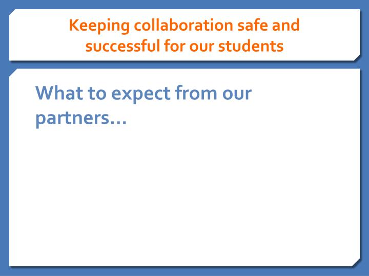 Keeping collaboration safe and successful