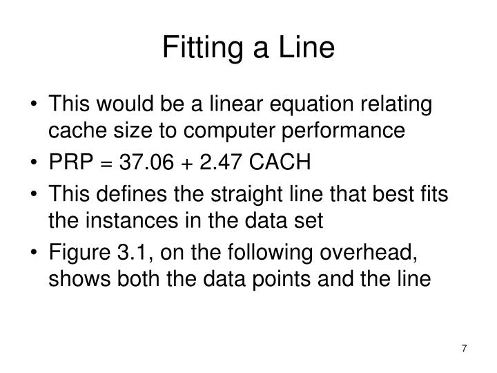 Fitting a Line