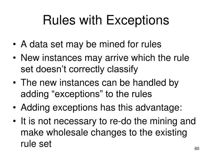 Rules with Exceptions