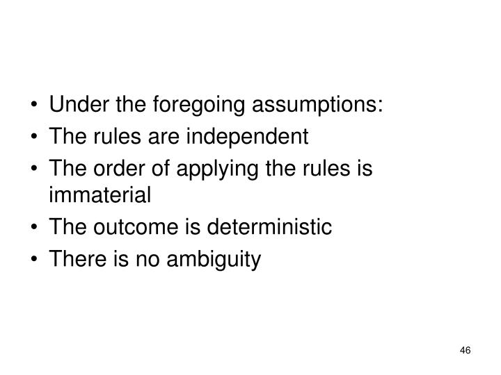 Under the foregoing assumptions: