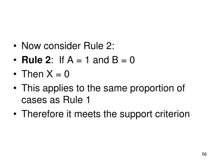Now consider Rule 2: