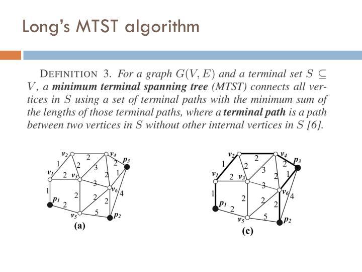 Long's MTST algorithm