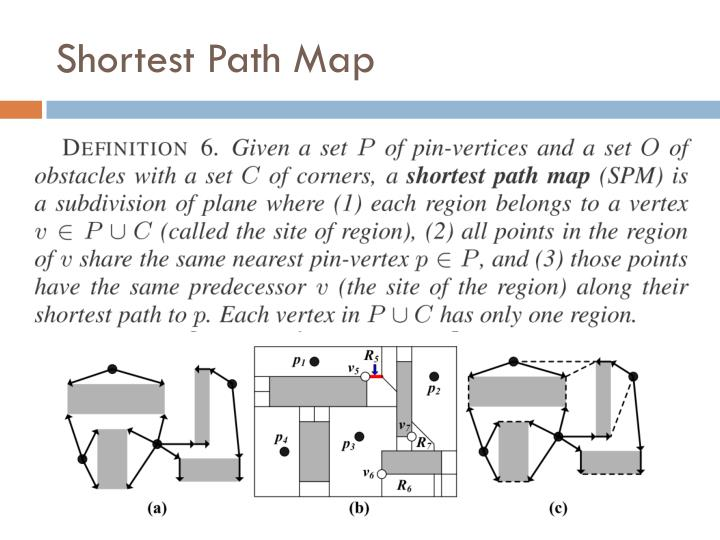 Shortest Path Map