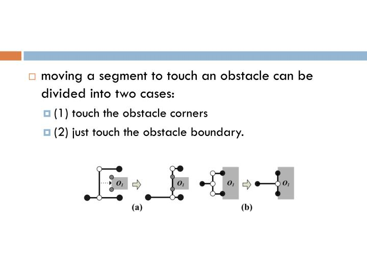 moving a segment to touch an obstacle can be divided into
