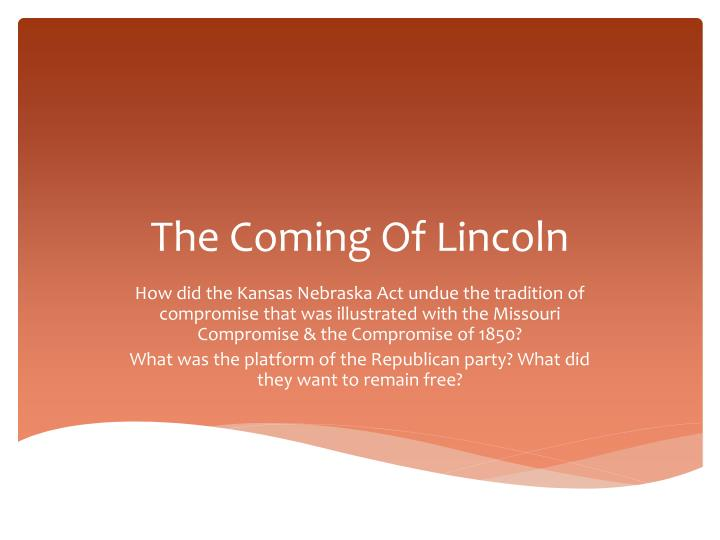 the coming of lincoln n.