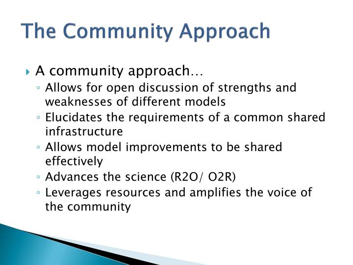 The Community Approach