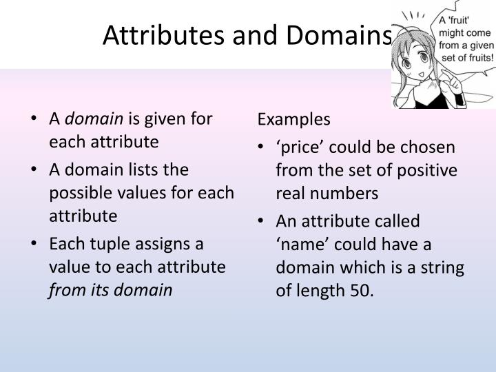 Attributes and Domains