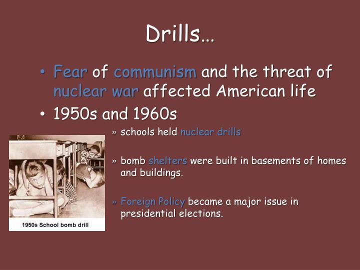 Drills…