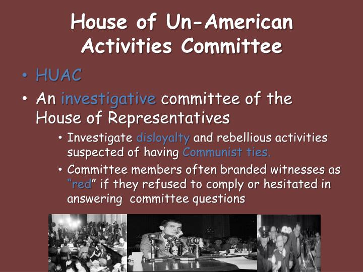 House of un american activities committee