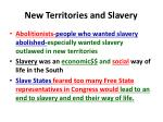 new territories and slavery