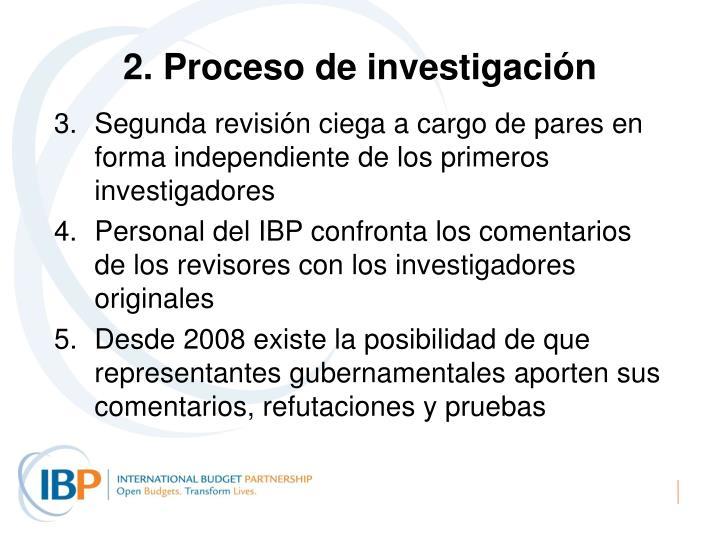 2. Proceso de investigación
