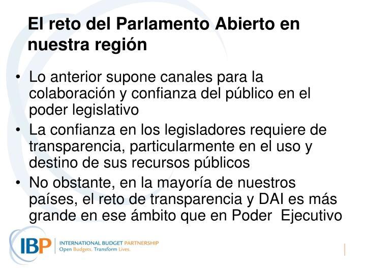 El reto del Parlamento Abierto en nuestra región