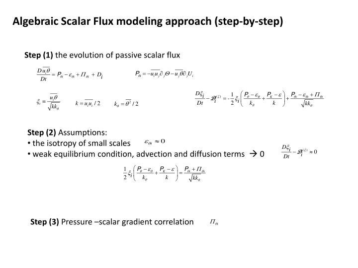 Algebraic Scalar Flux modeling approach (step-by-step)
