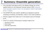 summary ensemble generation