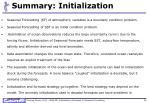 summary initialization