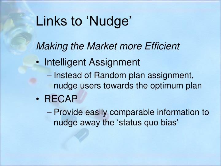 Links to 'Nudge'