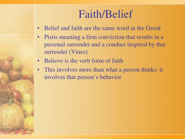 Faith/Belief