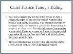 chief justice taney s ruling