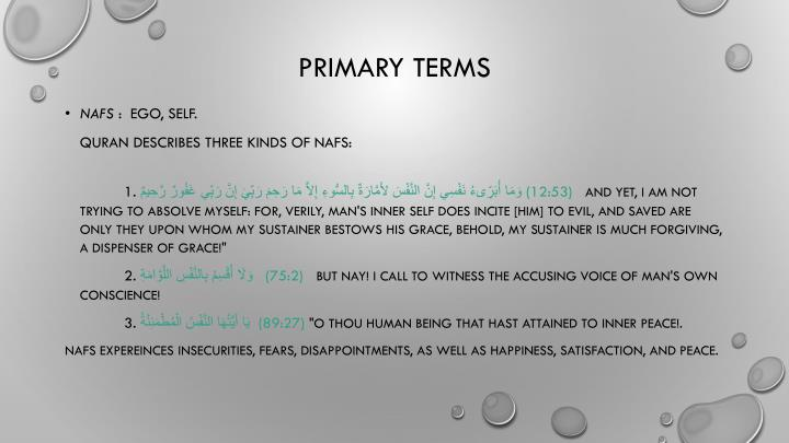 Primary Terms