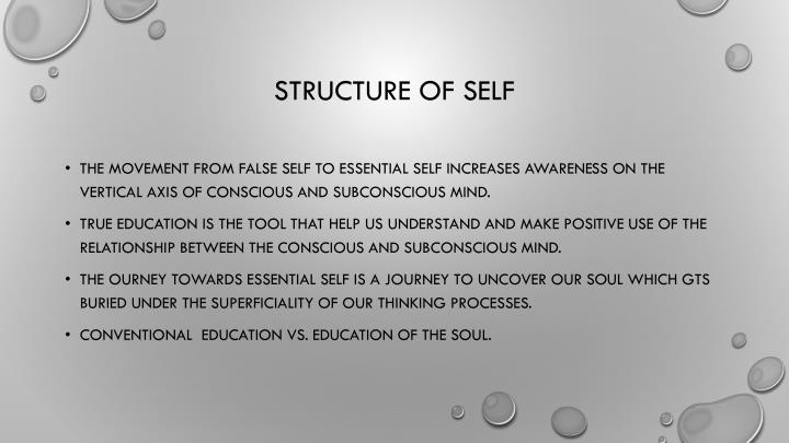 Structure of Self