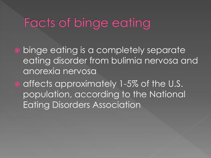 Facts of binge eating