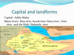capital and landforms