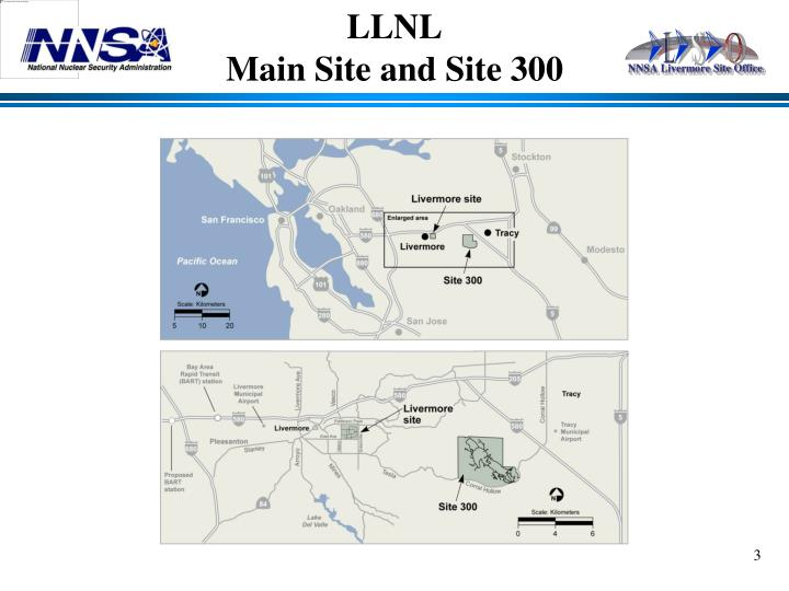 Llnl main site and site 300
