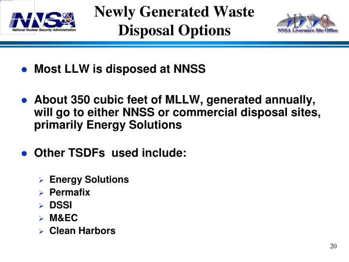 Newly Generated Waste