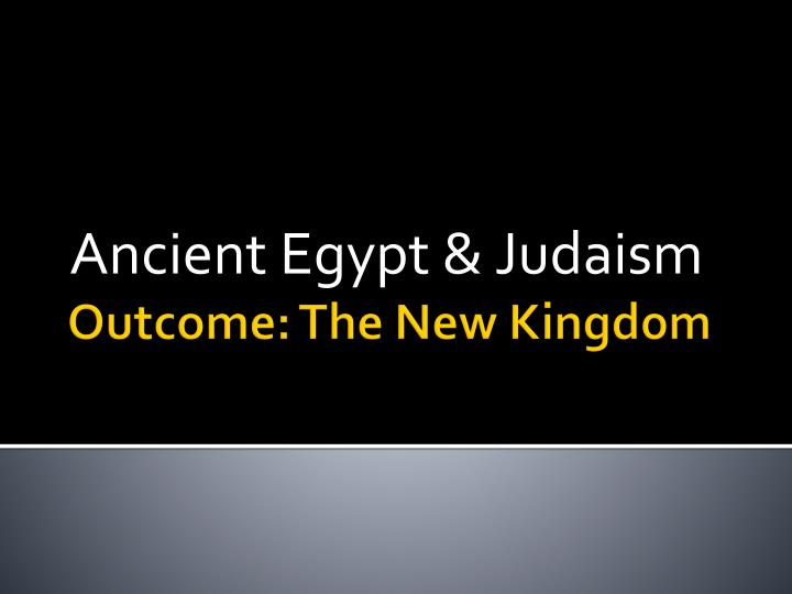 ancient egypt judaism n.