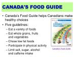 canada s food guide