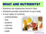 what are nutrients