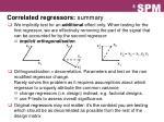 correlated regressors summary