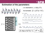 estimation of the parameters