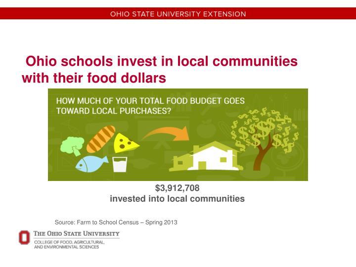 Ohio schools invest in local communities