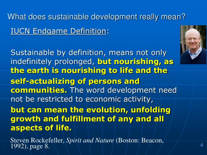 What does sustainable development really mean?