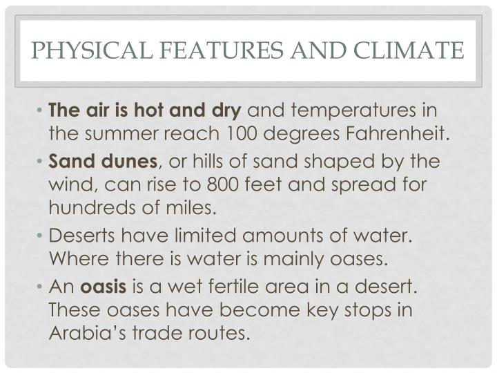 Physical Features and Climate